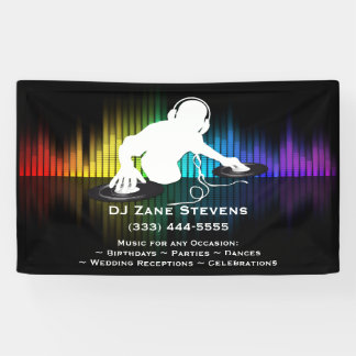 Spinnende Fahne DJ Vinyl Banner