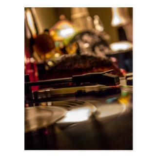 Spinnendes Vinyl Postkarte