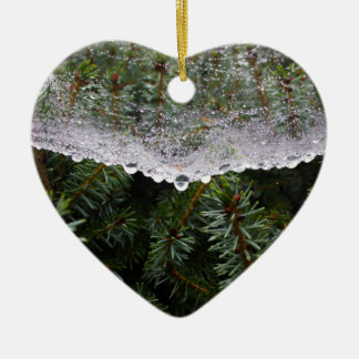 Spinnennetz Keramik Herz-Ornament