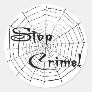 Spinnennetz Runder Aufkleber
