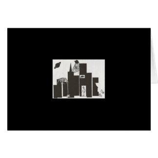 Spinnennetzstadt-Kunstkarte Grußkarte