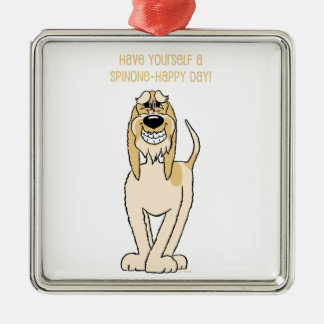 Spinone hell Smile Silbernes Ornament