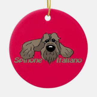 Spinone Italiano dkl. Kopf Cute Rundes Keramik Ornament