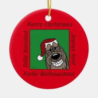 Spinone Italiano dkl Weihnachten Keramik Ornament