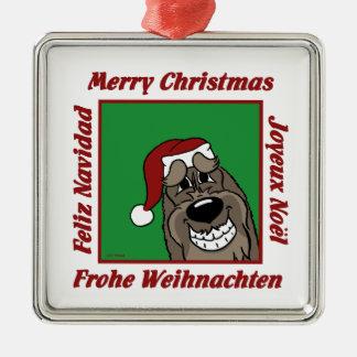 Spinone Italiano dkl Weihnachten Silbernes Ornament