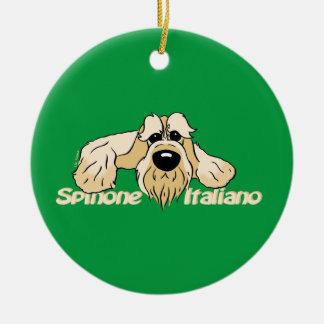 Spinone Italiano hell Kopf Cute Keramik Ornament