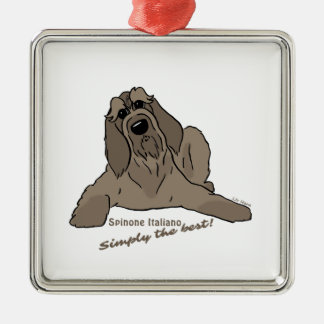 Spinone Italiano – Simply the best! Silbernes Ornament