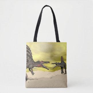 Spinosaurus Dinosaurier Fighting - 3D übertragen Tasche