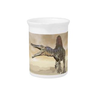 Spinosaurus Dinosaurier in der Wüste - 3D Getränke Pitcher