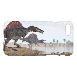 Spinosaurus Dinosaurier in der Wüste - 3D iPhone 8/7 Hülle