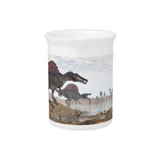Spinosaurus Dinosaurier in der Wüste - 3D Krug