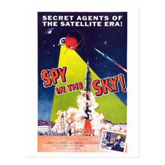 Spion in der Himmel-Postkarte Postkarte