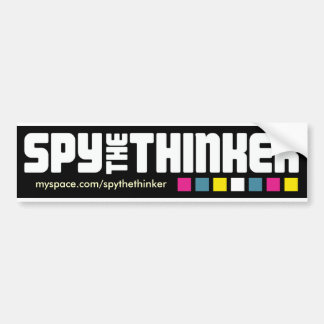 """Spionieren Sie den Denker-""""karminroter Autoaufkleber"""