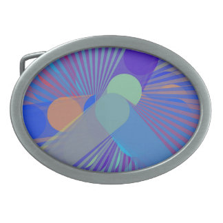 Spira-Sonderbar - buntes abstraktes Ovale Gürtelschnallen