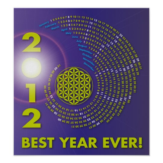 Spiral-Calendar 2012, The Flower of Life Poster