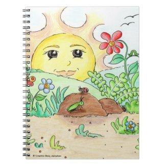 Spiral-Notizbuch - Die Sonne Gudrun Notizblock