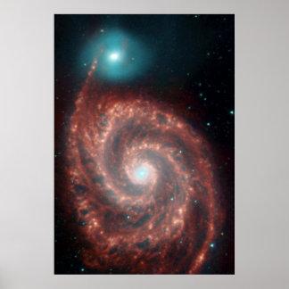 Spiralarm die NASA des Strudel-M51 Poster