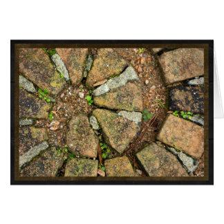 Spirale der Plasterungsziegelsteine Karte