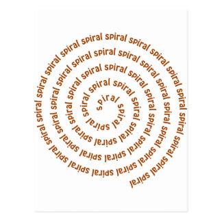 Spirale der Spiralen Postkarte