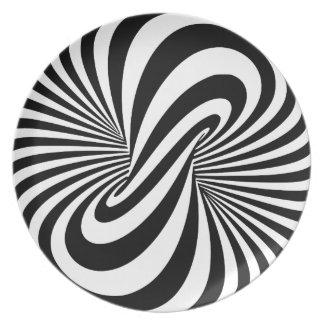 Spirale der Täuschungs-3D Flache Teller