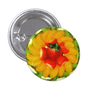 Spirale des saftigen fruityness runder button 3,2 cm