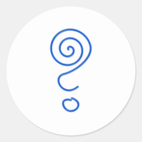 Spirale Fragezeichen Spiralfragezeichen Runder Aufkleber