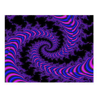 Spirale-Fraktal Postkarte