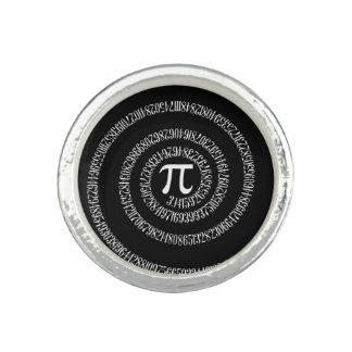 Spirale für PU auf schwarzem Dekor Foto Ringe