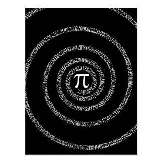 Spirale für PU auf schwarzem Dekor Postkarte