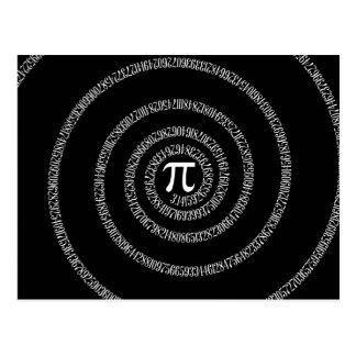 Spirale für PU-Typografie auf Schwarzem Postkarte