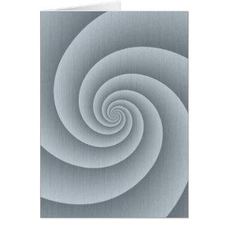 Spirale in gebürsteter Metallbeschaffenheit Karte
