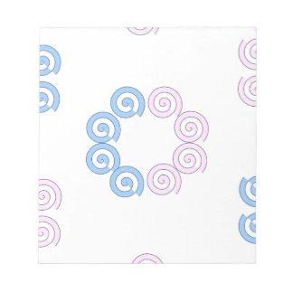 Spirale Notizblock