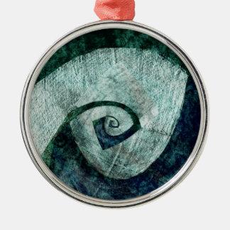 Spirale Rundes Silberfarbenes Ornament