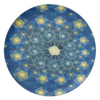 Spiralen-Buntglas-Melamin-Platte Melaminteller