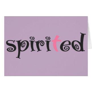 Spirited haben Sie Glauben lila Notecard Karte