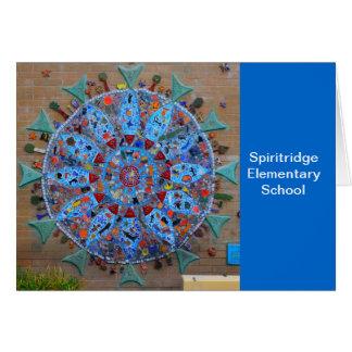 Spiritridge Mosaik-Anmerkungs-Karte (blaues Band) Karte