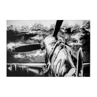 Spitfire an der Dämmerung Acryl Wandkunst