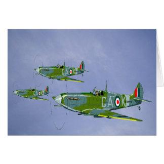 Spitfire-Gruß-Karte Karte
