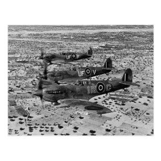 Spitfire-Kämpfer über Afrika, 1943 Postkarte