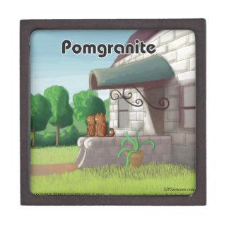 Spitz auf dem Granit (Granatapfel) lustig Schachtel