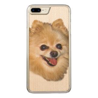 Spitz-Hund Carved iPhone 8 Plus/7 Plus Hülle