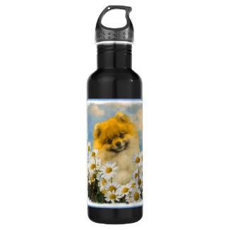 Spitz in den malenden Gänseblümchen - Trinkflasche