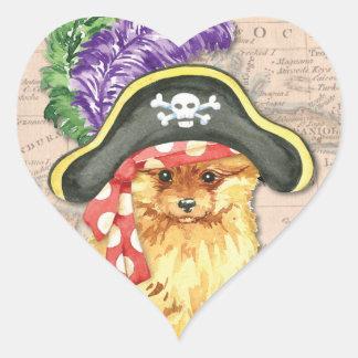 Spitz-Pirat Herz-Aufkleber