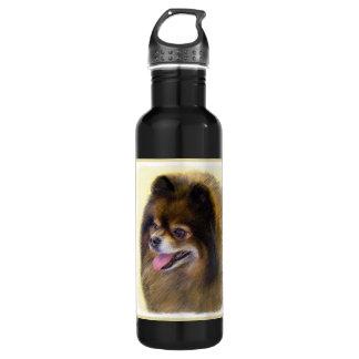 Spitz (Schwarzes und TAN) Trinkflasche