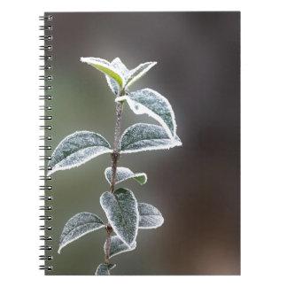 Spitze auf Blätter Spiral Notizblock