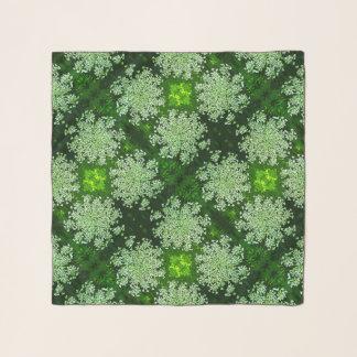 Spitze-Blumen-Grünblumenchiffon-Schal der Schal