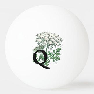 Spitze-Blumen-Monogramm-Kunst der Königin-Anne Ping-Pong Ball