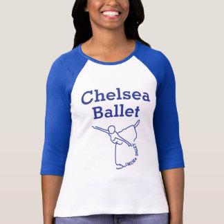 Spitze der Front der Frauen nur (blauer Text) T-Shirt