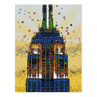 Spitze der psychedelischen NYC Art des Postkarte