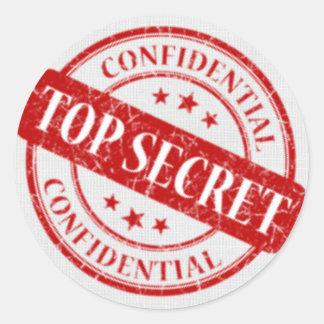 Spitze - geheime vertrauliche Briefmarken-weißes Runder Aufkleber